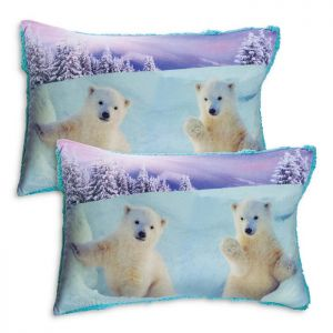 Par de fundas decorativas Oso Polar