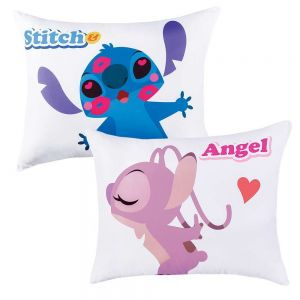 Almohada Stitch & Angel